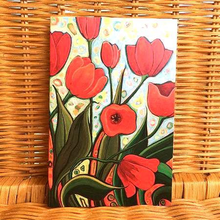 アメリカより直輸入 鮮やかなお花のカード おすすめ 商品追加値下げ在庫復活 限定数のみ入荷 Tree チューリップ Free 多目的カード