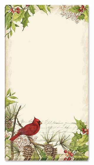 スーザンウィンゲットのリストパッド クリスマス ミニリストパッド 鳥 日本 Birds カーディナルSusan Winget Christmas セール特別価格