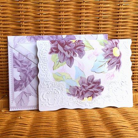 美しいアジサイの多目的カード レア わずかのみ入荷 大放出セール Lady Jayne レディジェーン 直営ストア ピオニー 多目的カード Purple Peony 大判