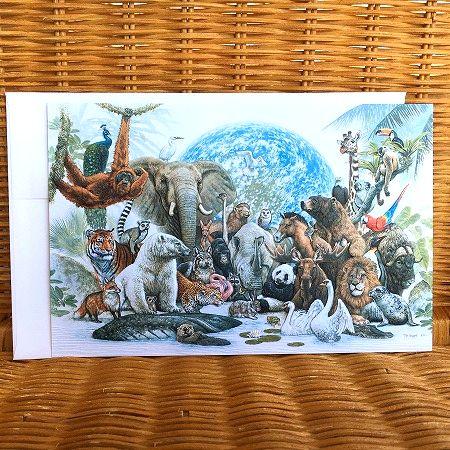 超大判 豪華な多目的カード 限定数のみ USA Pumpernickel 地球上の動物 Animal Press Kingdom ※ラッピング ※ 多目的カード オンラインショッピング
