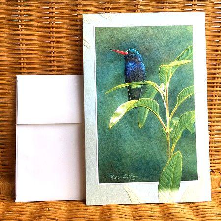 爆買い送料無料 アメリカより直輸入 超大判の美しいカード USA Pumpernickel Press Jewel Crowin 激安特価品 超大判 お悔みカード 青い鳥