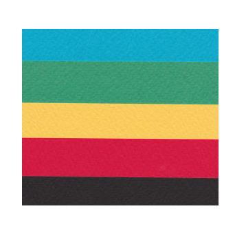 画材、ペーパークラフト、カード、パッケージ、書籍装丁用紙などにおすすめ! アシッドフリー サンプル用 マーメイド紙 153k 選べる原色系4色+黒 A4 1枚印刷用紙 ファンシーペーパー 特殊紙 型押荒目