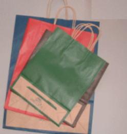 衣料、雑貨など幅ひろくご利用できます。 25チャーム手提げ袋 21-12 カラー 50枚 巾210×マチ120×高250紙袋