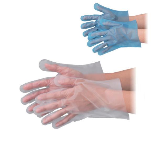 在庫あり 使い捨て手袋 外エンボス加工 オンラインショッピング ポリグローブ ポリエチ手袋 あす楽 ポリエチレン手袋 ポリ手袋 100枚入 S SS M ブルー 透明 気質アップ エブケアエンボス25 箱入 エブノ L