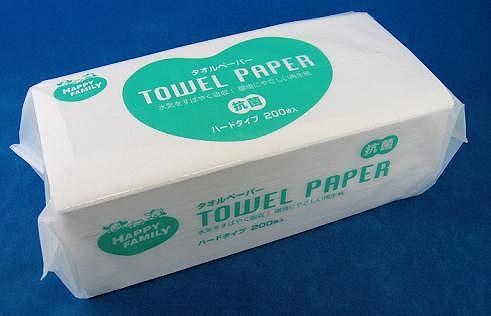 수건 종이 허 ピィ 패밀리 하드 하드 타입 200 장의 40 팩 들어 업무용 에코 대량 구매 세트
