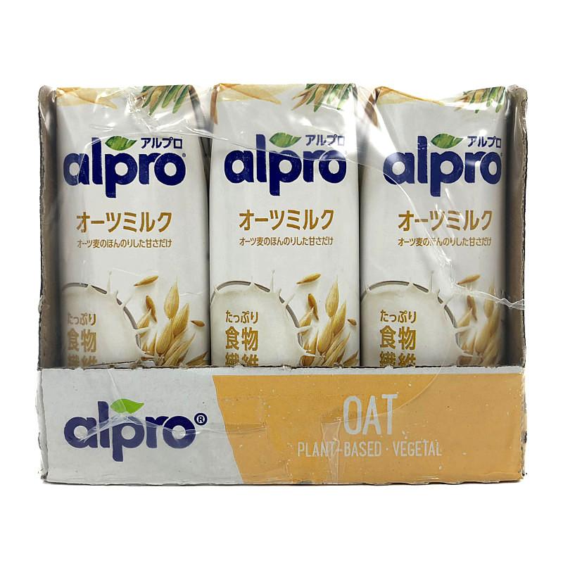 いよいよ人気ブランド アルプロコレステロールゼロオーツミルク アルプロ たっぷり食物繊維 ブランド買うならブランドオフ オーツミルク ほんのり甘い 砂糖不使用 250ml Alpro ×15本 Original Oat 15本入り Milk