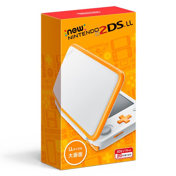 【新品】【2DS】 Newニンテンドー2DS LL ホワイト×オレンジ [JAN-S-OAAA][2DSLL][3DS]