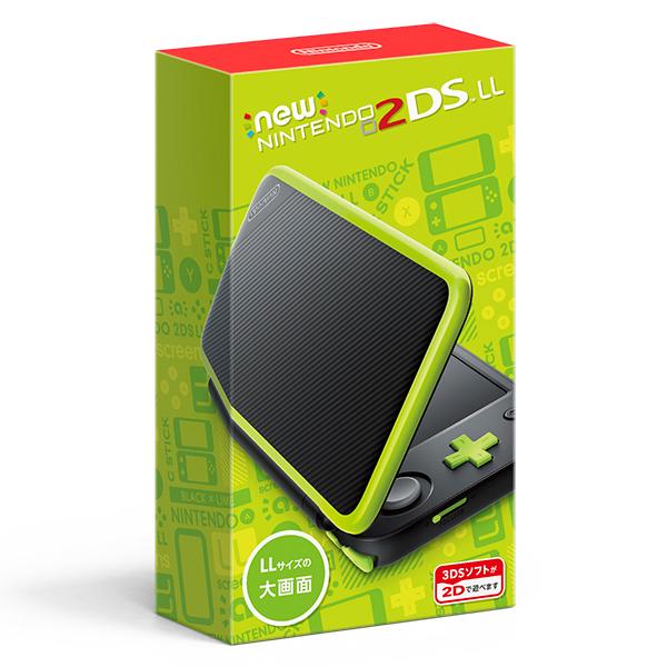 【新品】【2DS】 Newニンテンドー2DS LL ブラック×ライム [JAN-S-MAAA][2DSLL][3DS]