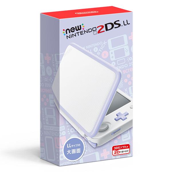 【新品】【2DS】 Newニンテンドー2DS LL ホワイト×ラベンダー [JAN-S-UAAA][2DSLL][3DS]