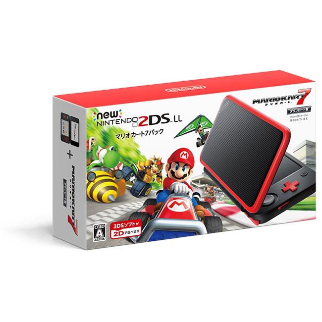 【新品】【2DS】 Newニンテンドー2DS LL マリオカート7パック [JAN-S-RADH] 2DSLL 3DS 本体