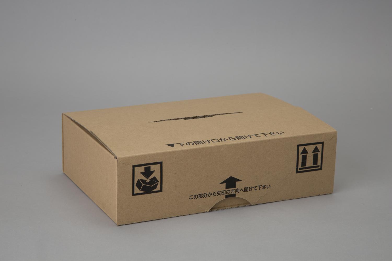 段ボール (ダンボール) 段ボール箱 テープハサミ不要 梱包 宅配 返品用 W237×D160×H68mm 50枚 オリパ LT-1-S