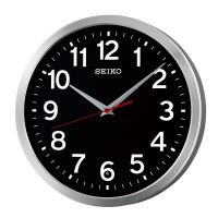 セイコークロック (KX227K)電波掛時計 黒文字板 直径305×46mm