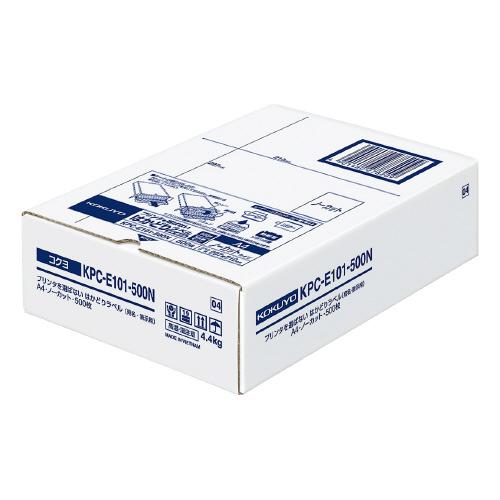 コクヨ KPC-E101-500N プリンタを選ばない はかどりラベル A4 ノーカット 500枚