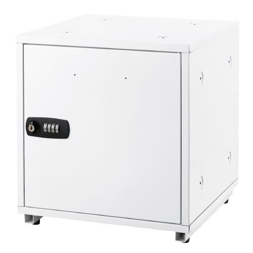 アスカ(SB500W)組立式収納ボックス ホワイト W350×D350×H350mm