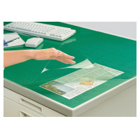 最短当日納品(※一部地域のみ)5,250円以上のお買い上げで送料無料 コクヨ (マ-1207NG) デスクマット軟質Wエコノミー 塩ビ製 緑 透明 下敷き付 1000×700デスク用☆