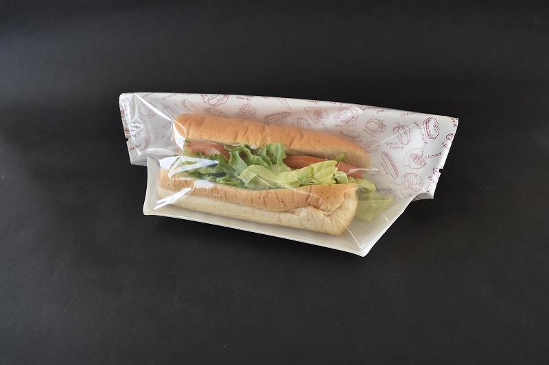 サンドイッチ テイクアウト タートルパックJAA27-16 フレッシュ赤 正規品送料無料 1セット100枚入 個包装 公式通販 袋 パン詰め合わせ ロールサンド