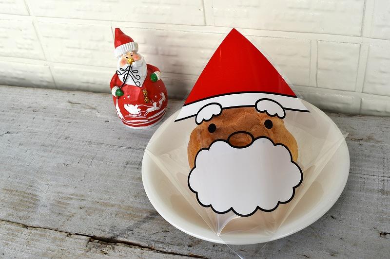 クリスマス OPPバーガー袋 サンタM 1セット100枚入 ラッピング かわいい ハンバーガー シュークリーム 返品不可 安心と信頼