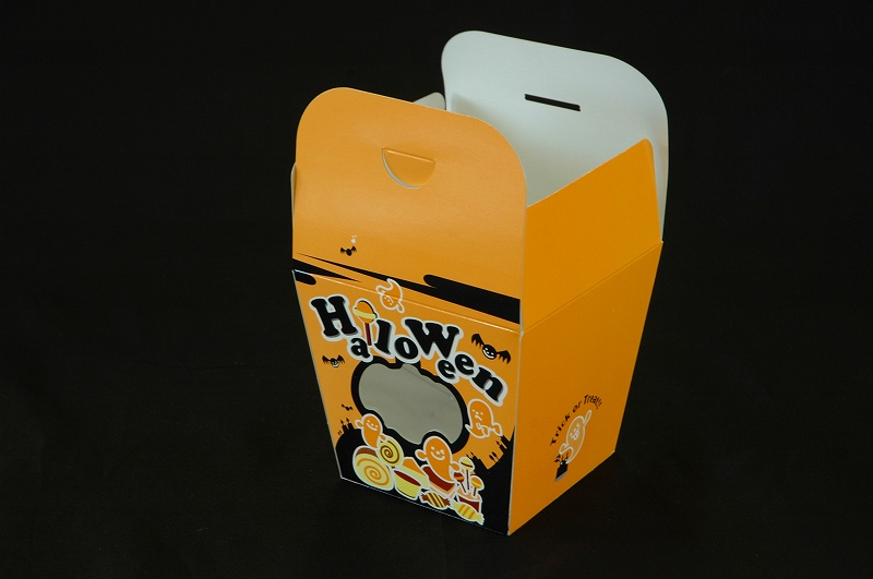 ※特価※ウインドーボックス パンプキン ハロウィン ハロウィーン ポップコーン 焼き菓子 窓付き 気質アップ ジャックランタン 洋菓子 かぼちゃ ギフト 卓越 おばけ