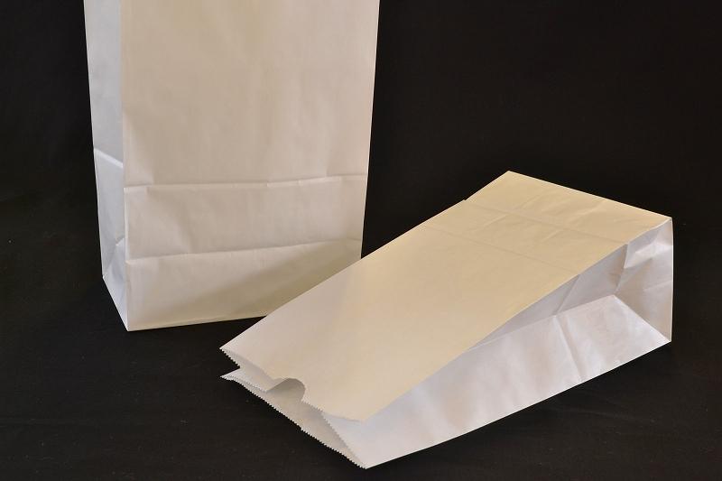 送料無料カード決済可能 紙袋 ラッピング 包装 角底袋 白無地 1セット100枚入 H4 スピード対応 全国送料無料