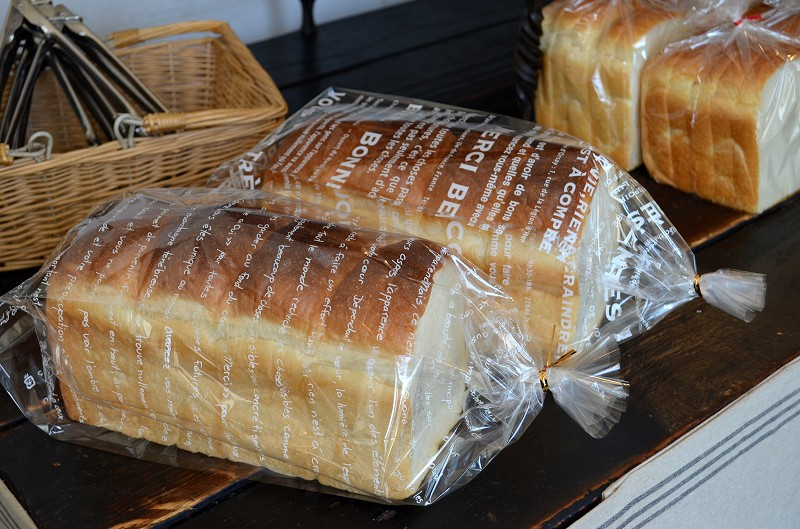 人気上昇中 パン 袋 PP食パン2斤袋 メルシー PP 食パン 往復送料無料 ラッピング 1セット100枚入