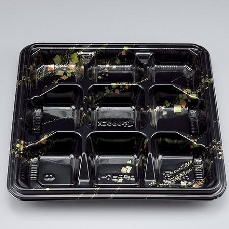 シーピー化成 BF弁当7-1 金の舞 本体 ケース800枚 外寸208×208×25h ごはん1マス約40g