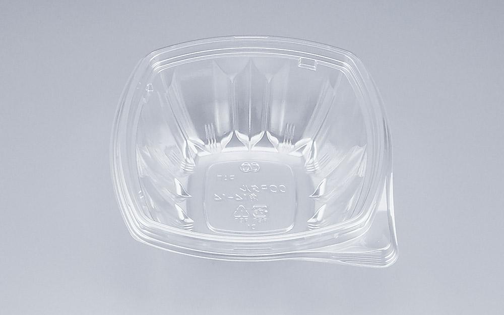 COPタル角14-14本体 (600個/ケース) 使い捨て サラダ 惣菜 麺 ボウル 透明 プラスチック容器 ワンプッシュオープン