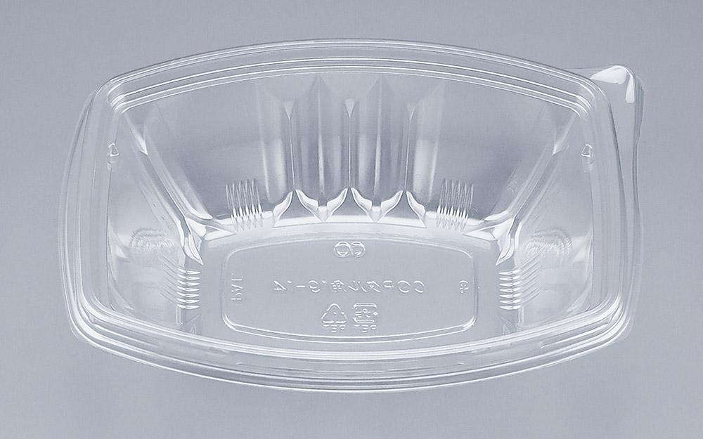 COPタル角19-14本体 (600個/ケース) 使い捨て サラダ 惣菜 麺 ボウル 透明 プラスチック容器 ワンプッシュオープン