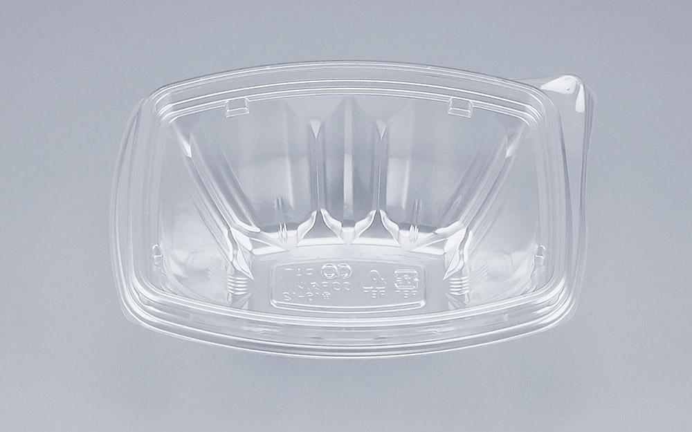COPタル角16-12本体 (900個/ケース) 使い捨て サラダ 惣菜 麺 ボウル 透明 プラスチック容器 ワンプッシュオープン