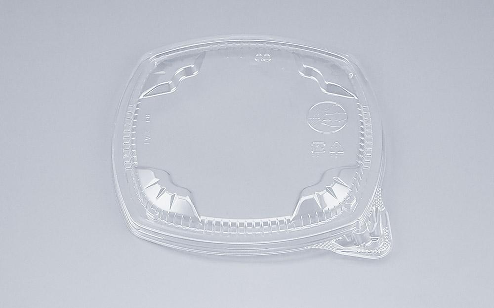 COPタル角16-16Y嵌合蓋 (600個/ケース) 使い捨て サラダ 惣菜 麺 ボウル 透明 プラスチック容器 ワンプッシュオープン
