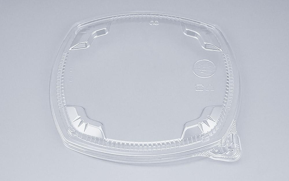 COPタル角19-19Y嵌合蓋 (600個/ケース) 使い捨て サラダ 惣菜 麺 ボウル 透明 プラスチック容器 ワンプッシュオープン