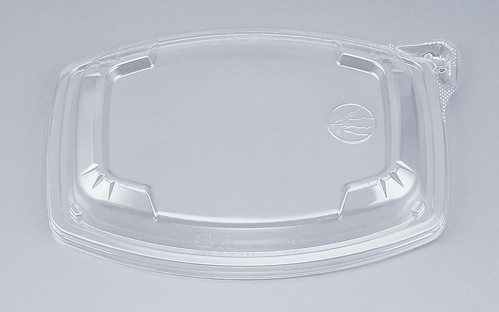 COPタル角20-15Y嵌合蓋 (600個/ケース) 使い捨て サラダ 惣菜 麺 ボウル 透明 プラスチック容器 ワンプッシュオープン