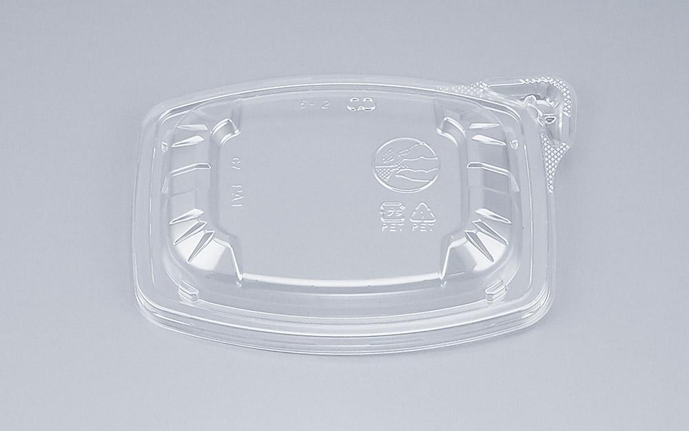 COPタル角16-12Y嵌合蓋 (900個/ケース) 使い捨て サラダ 惣菜 麺 ボウル 透明 プラスチック容器 ワンプッシュオープン