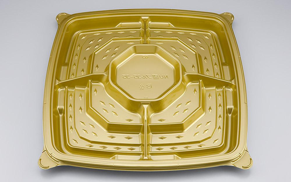 使い捨て容器 NU盛ブル35-35ロイヤルG本体 120枚/ケース