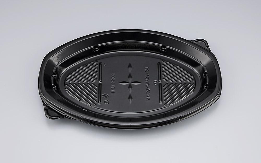 使い捨て容器 BFプレ小判31-21黒本体 300枚/ケース