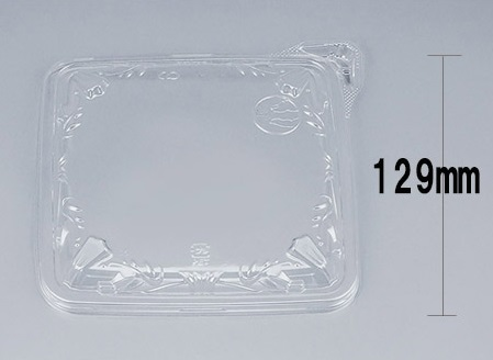 COPアルテ13-13Y嵌合蓋 (900個/ケース) 使い捨て サラダ 惣菜 麺 ボウル 透明 プラスチック容器 ワンプッシュオープン