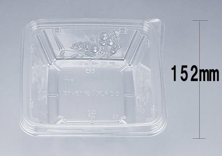 COPアルテ15-15本体 (600個/ケース) 使い捨て サラダ 惣菜 麺 ボウル 透明 プラスチック容器 ワンプッシュオープン