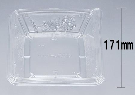 COPアルテ17-17本体 (600個/ケース) 使い捨て サラダ 惣菜 麺 ボウル 透明 プラスチック容器 ワンプッシュオープン