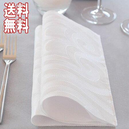 ★送料無料★ケース DUNI 168449 デュニエレガンスナプキン 48×48cm ホワイト (40枚×6/ケース)Duni ワンランク上のホームパーティー 布のような 紙製 おしゃれ シンプル デザイン