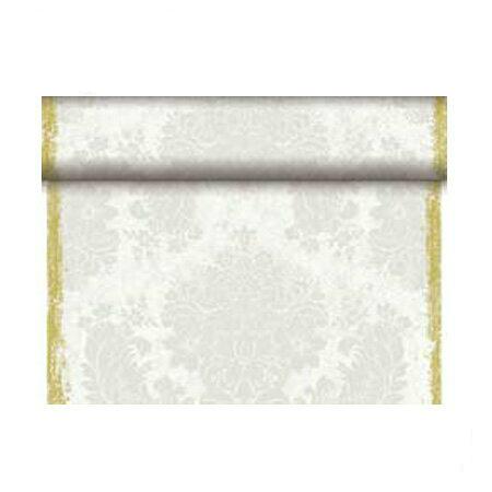 DUNI 174317 ブリッジランナー ベーシック 40cm×24m ロイヤルホワイト (4本/ケース) Duni ワンランク上のホームパーティー 布のような 紙製 使い捨て おしゃれ シンプル デザイン