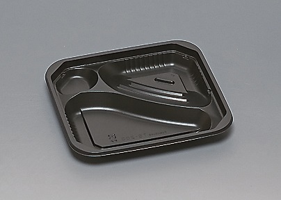 ★送料無料★TS-200 本体 黒(600枚/ケース) 使い捨て容器