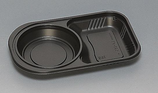 ★送料無料★LA-250 本体 黒新(600枚/ケース) 使い捨て容器