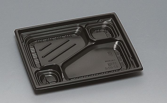 ★送料無料★巧膳23-20-2 本体 黒(600枚/ケース) 使い捨て容器