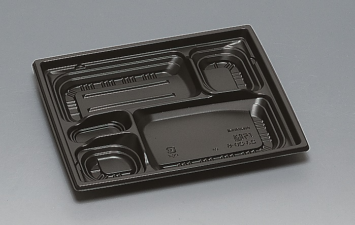 ★送料無料★巧膳23-20-6 本体 黒(600枚/ケース) 使い捨て容器