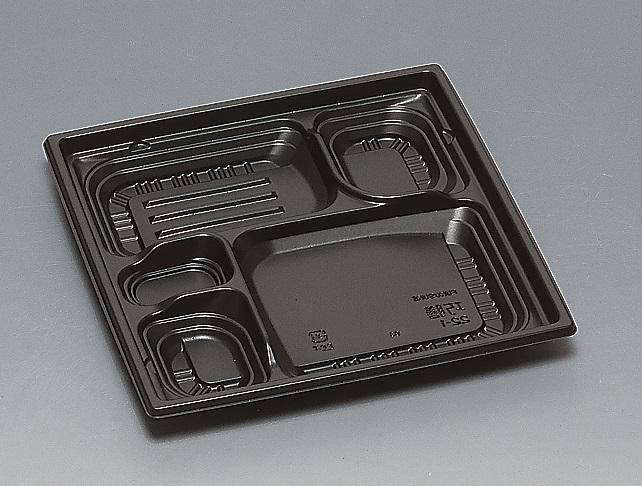 ★送料無料★巧膳22-1 本体 黒(600枚/ケース) 使い捨て容器