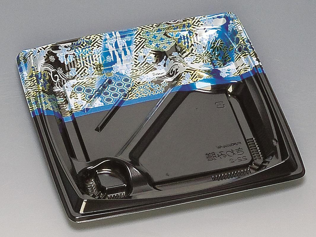 ★送料無料★きわみ膳22-2 本体 ひとえ青(600枚/ケース) 使い捨て容器