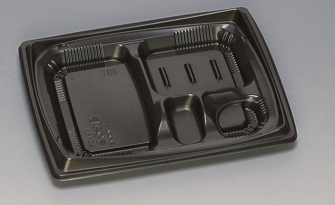 ★送料無料★きわみ膳23-18-1 本体 黒(800枚/ケース) 使い捨て容器