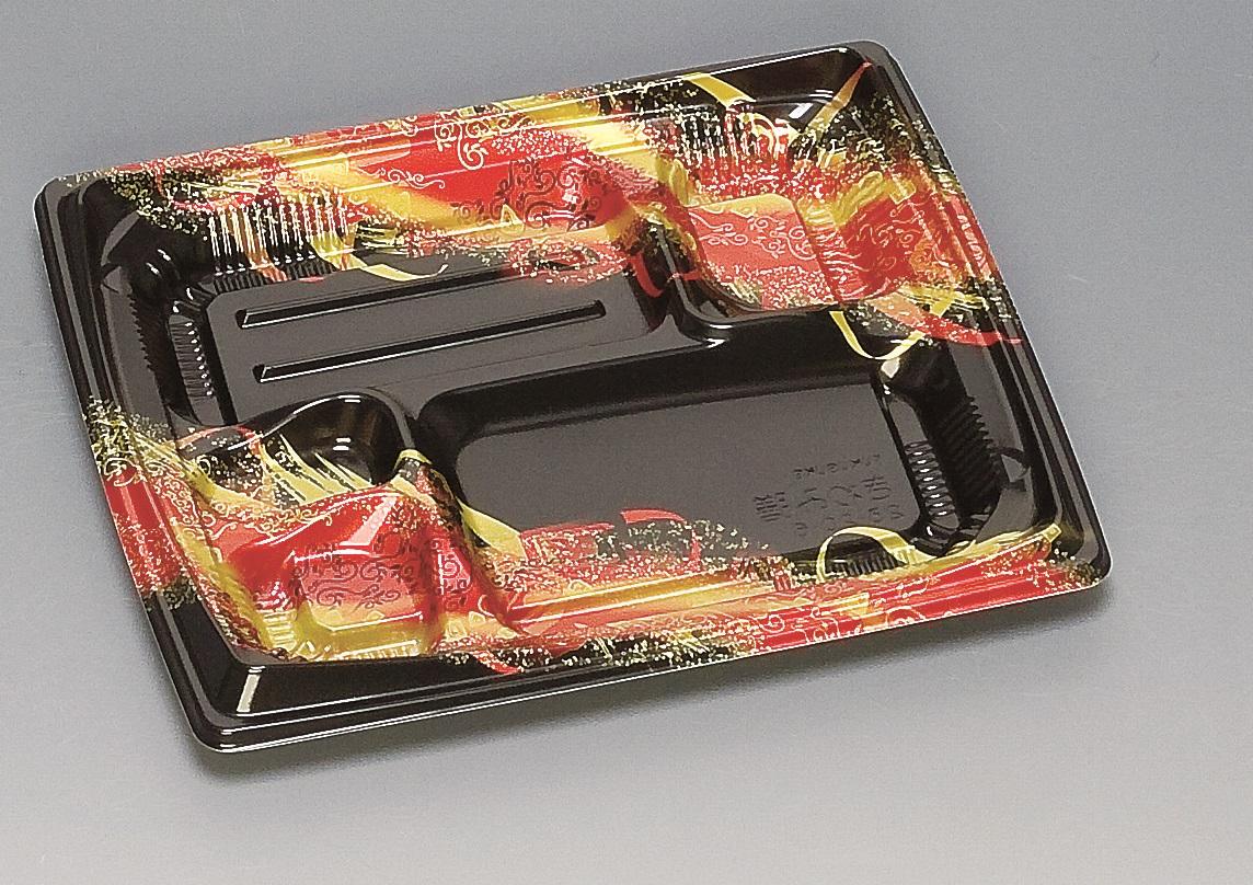 ★送料無料★きわみ膳23-20-6 本体 天海赤(600枚/ケース) 使い捨て容器