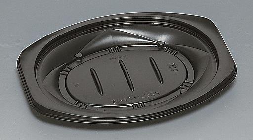 ★送料無料★FKプレート24-18 本体 黒(600枚/ケース) 使い捨て容器