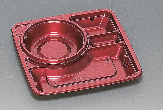 ★送料無料★LA-22-3 本体 シルクレッド(600枚/ケース) 使い捨て容器