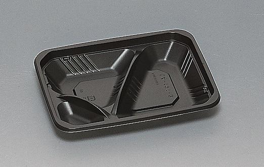 業務用 テイクアウト お弁当 お惣菜 送料無料 LA-191-3 使い捨て容器 ケース 本体 無料サンプルOK おしゃれ 黒 900枚